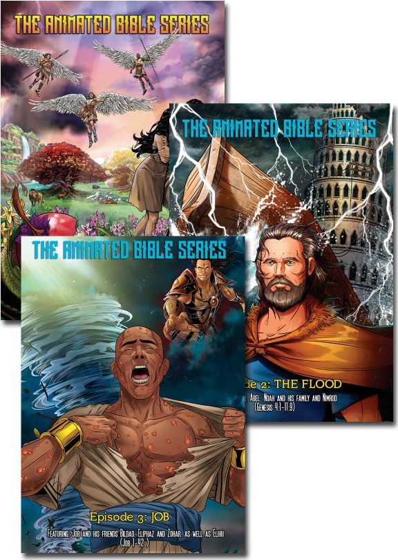 The Animated Bible Series - Set of 3