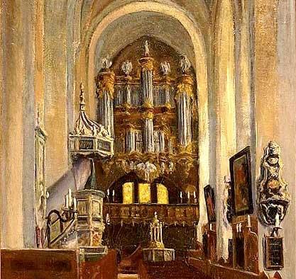 Organ in Lutheran church