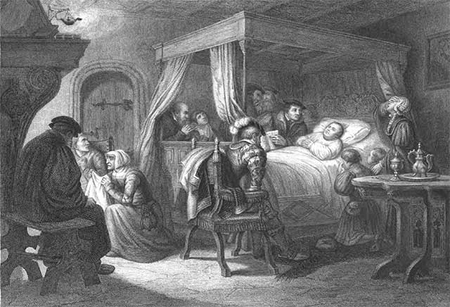 luther on death bed