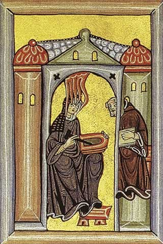 Hildegard writing