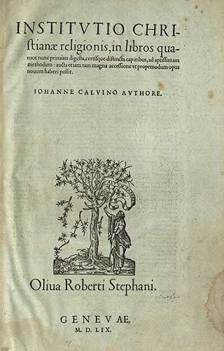 title page of Calvin's Institutes