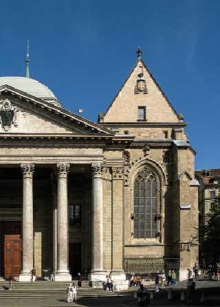 Facade of Geneva church