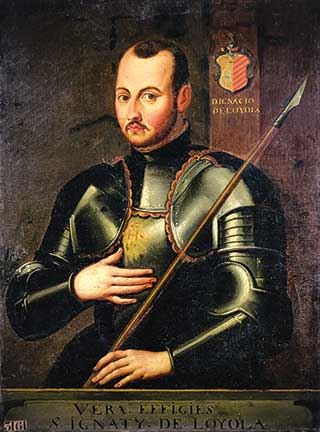 Ignatius in armor