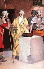 Polycarp feeds the soldiers who have come to arrest him