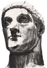Bust of Constantine.